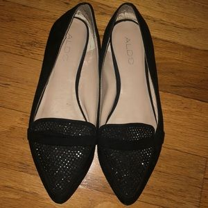 Aldo pointed toe flats with Embellishments
